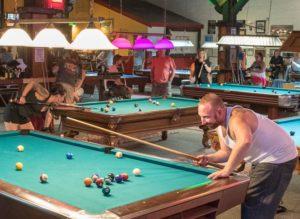 Crowded Pool Hall
